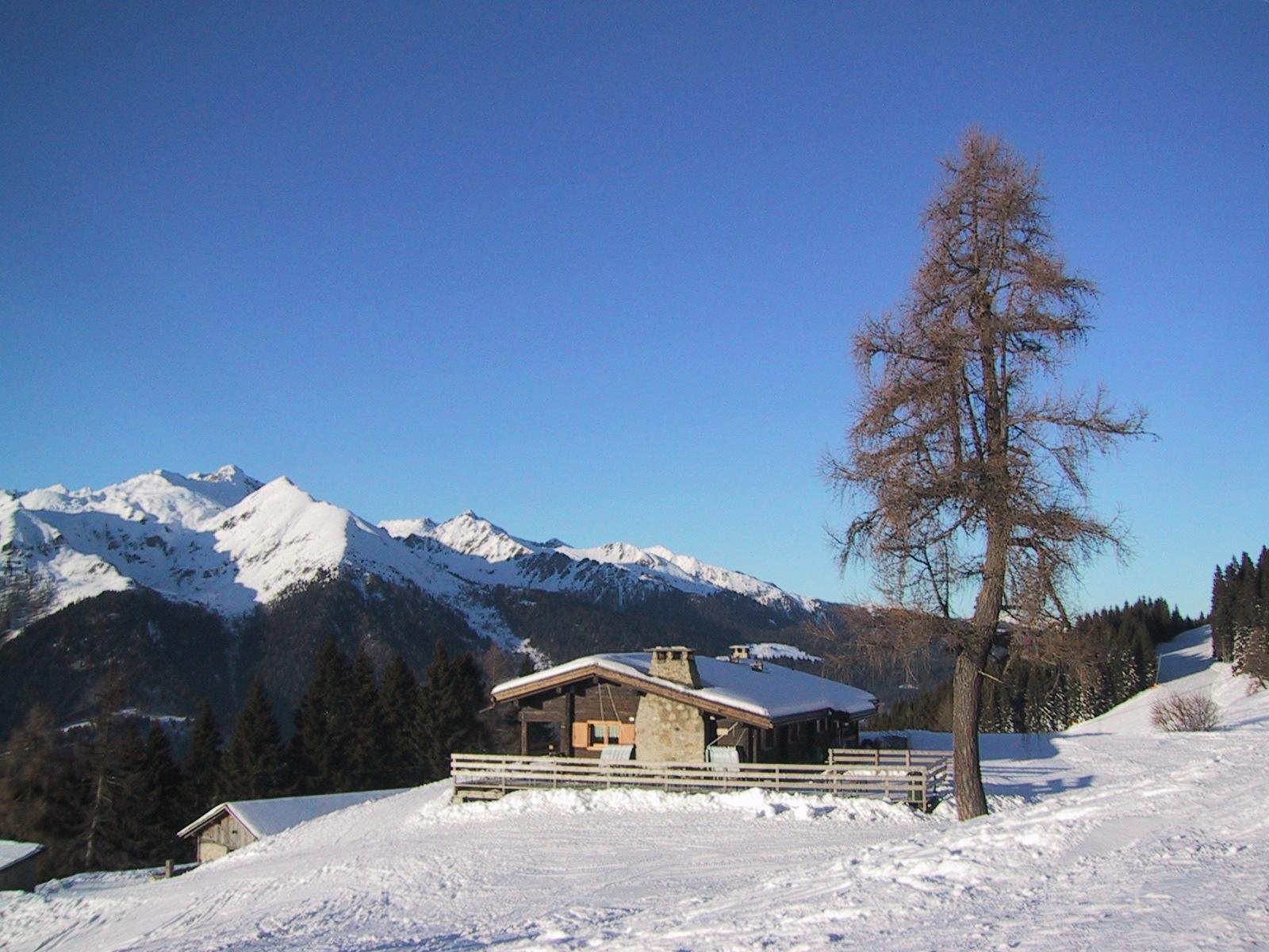 Malga Cioca alpine shelter in italy