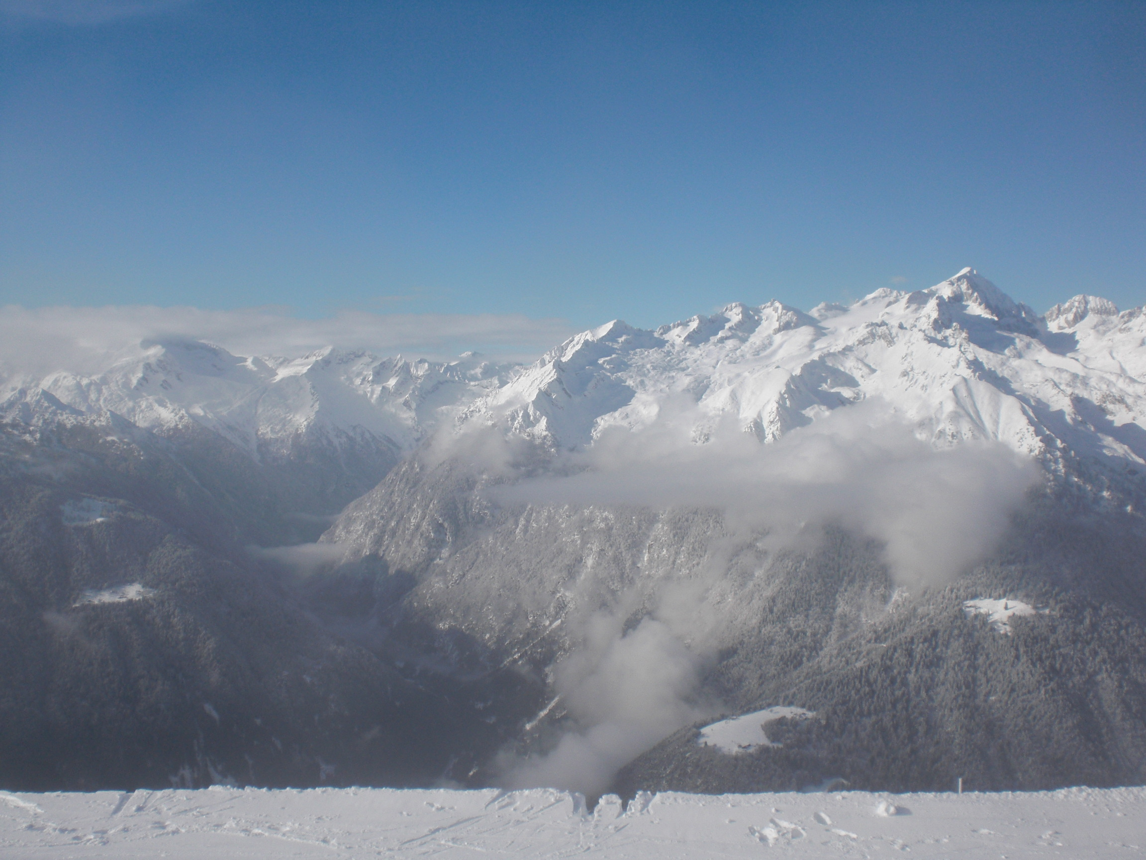 Panorama sul Ghiacciaio dell'Adamello dal Rifugio Doss del Sabion