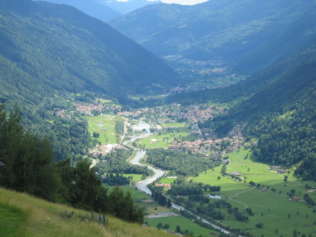 Panorma della Val Rendena, Golf Club Rendena, Bocenago, Strembo, Caderzone